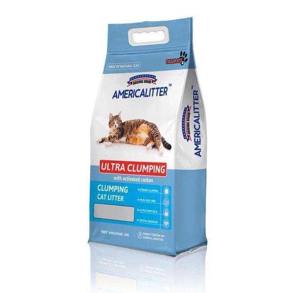 America Litter Clumping odor control Cat Litter 10L/7KG- Baby powder-America litter-Whiskers Nation