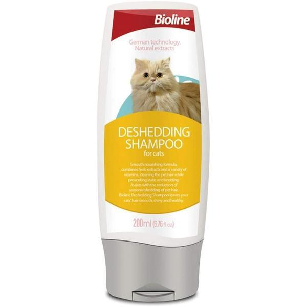 Bioline cats deshedding shampoo- 200ml-Shampoo-Whiskers Nation
