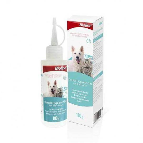 Bioline dental hygiene gel with beef flavor, for cats and dogs-Groom-Whiskers Nation