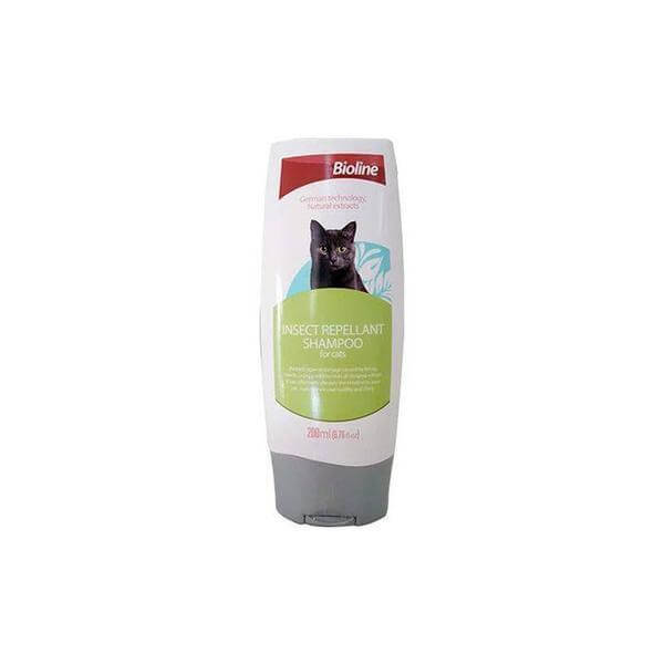 Bioline insect repellant shampoo for cats- 200 ml-Bioline-Whiskers Nation