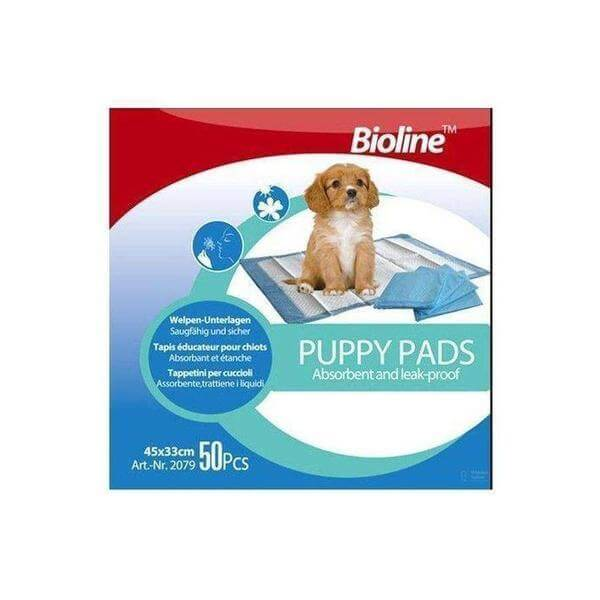 Puppy Training Pads 33x45cm 50pcs-Bioline-Whiskers Nation