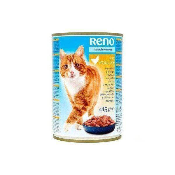 Reno Complete Food for Adult Cats with Chicken 415g-Cats food-Whiskers Nation