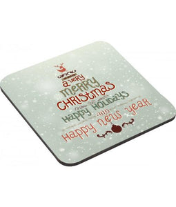 Personalized Hardboard Coasters with Cork Back (Set of 4)