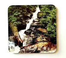 Load image into Gallery viewer, Personalized Hardboard Coasters with Cork Back (Set of 4)