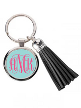 Load image into Gallery viewer, Circle Key Chain With Tassel