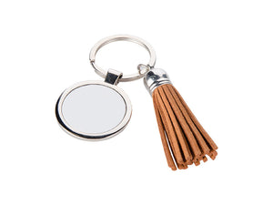 Circle Key Chain With Tassel