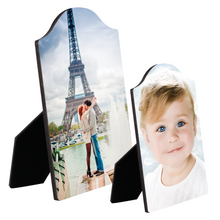 Load image into Gallery viewer, Arch Top Hardboard Photo Panel With Easel