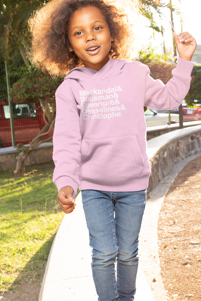 IAM The Haitian Revolution Kids Hoodie- White