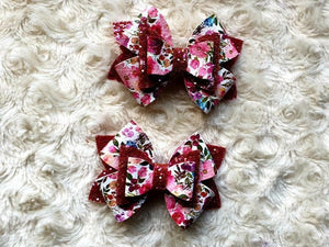 The Floral Lucy Bow-groovykidsco.