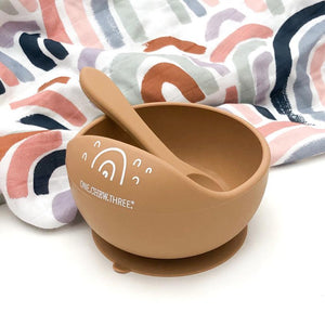 Silicone Scoop Bowl and Spoon set-groovykidsco.