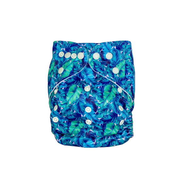 Tropicana Blue Pocket Nappy-groovykidsco.