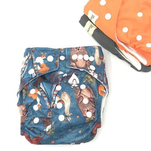 MODERN CLOTH NAPPY - IN THE WOODS-groovykidsco.