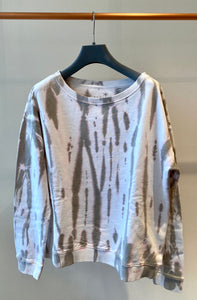 Sweatshirt mit softem Batik-Design