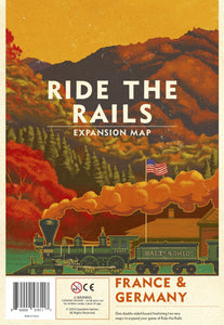 Ride the Rails - France & Germany Map
