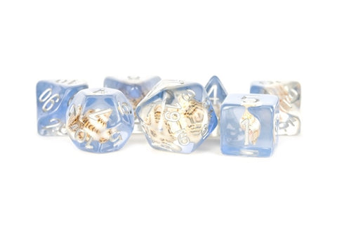 16mm Resin Poly Dice Set - Sea Conch (7)