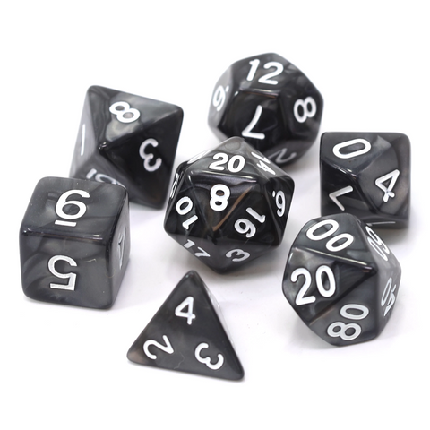 RPG Set - Black Swirl w/ White