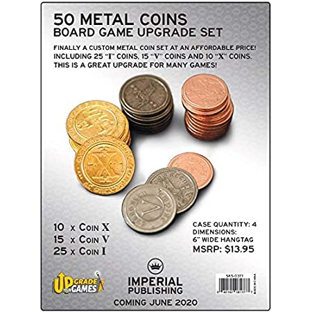 Board Game Upgrade Set - Metal Coins (50)