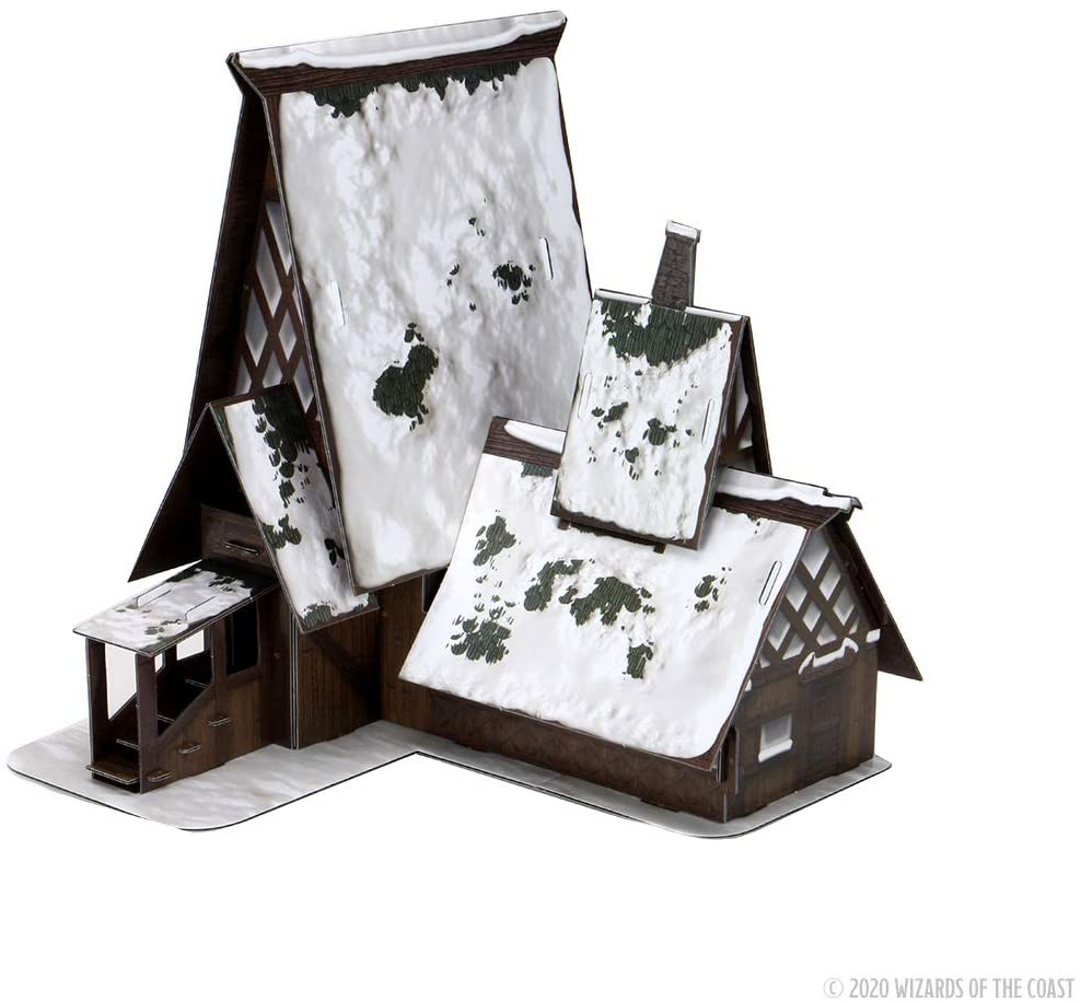 Icons of the Realms: Rime of the Frostmaiden - The Lodge Papercraft Set