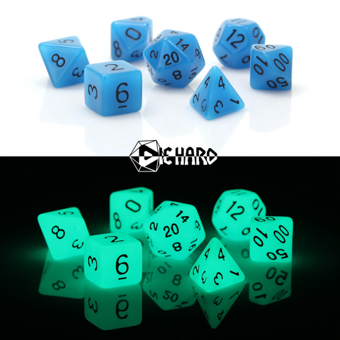 RPG Set - Glow-in-the-Dark Blue