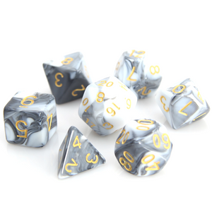 RPG Set - White/Black Marble