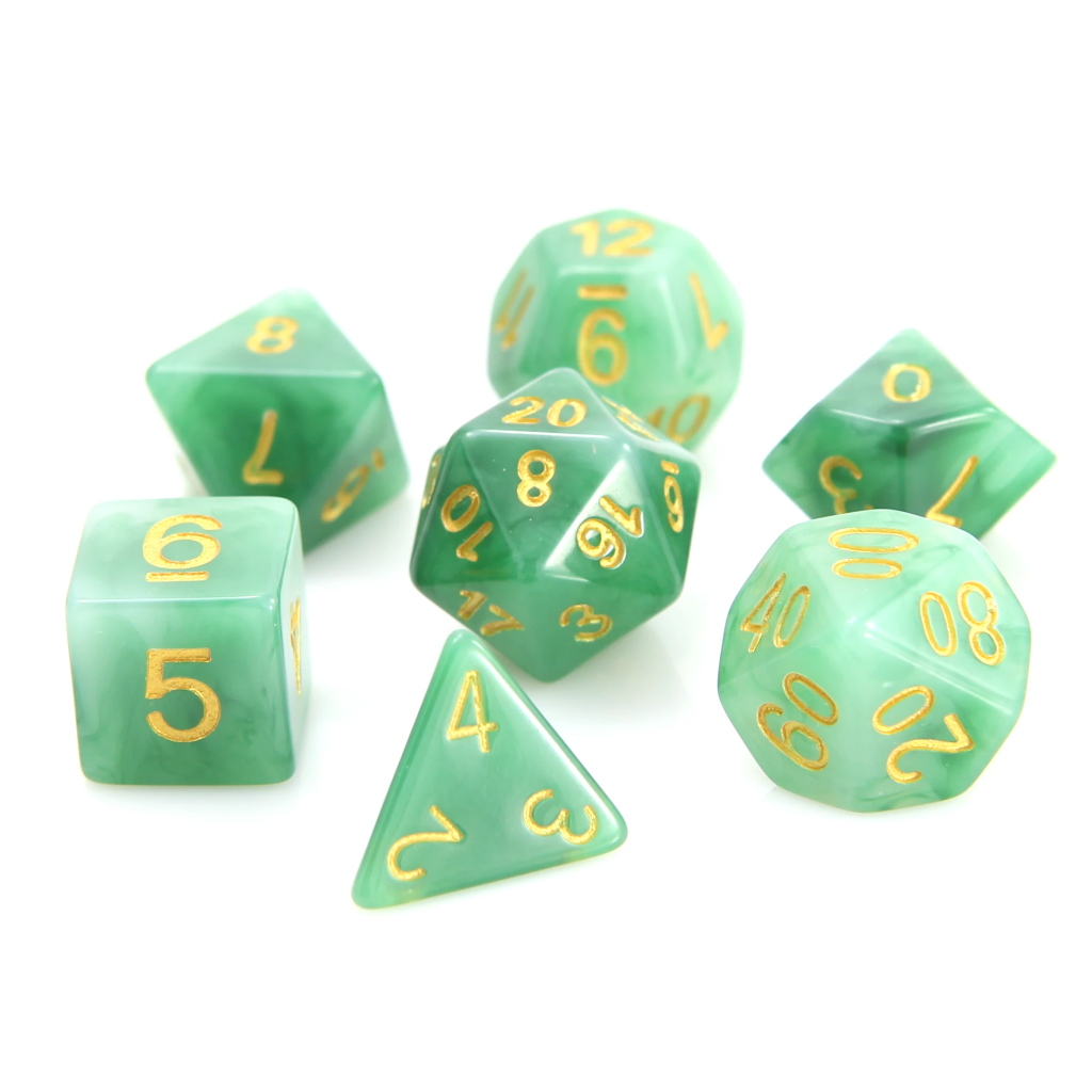 RPG Set - Jade w/ Gold