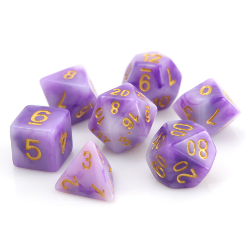 RPG Set - Amethyst w/ Gold