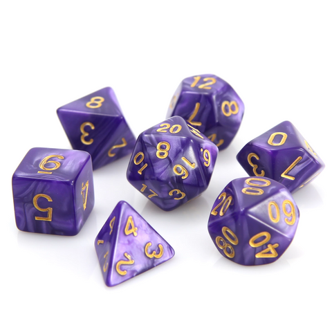 RPG Set - Purple Swirl w/ Gold