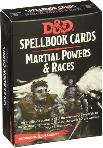 Martial Powers and Races Spellbook Cards