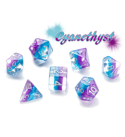Eclipse Dice: Poly - Cyanethyst (7)