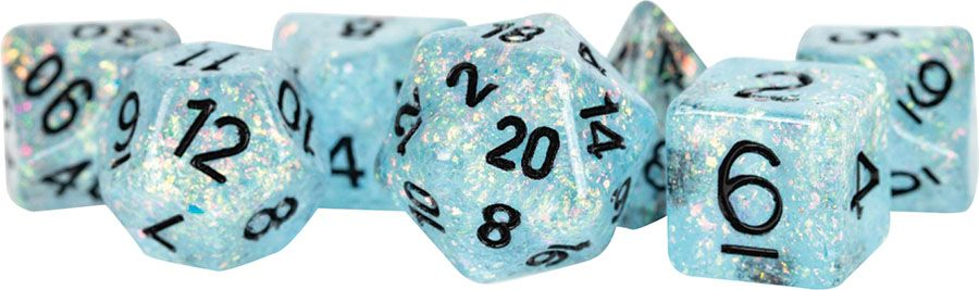Flash: 16mm Resin Poly Dice Set - Blue (7)