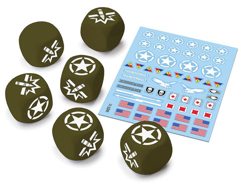 World of Tanks: Miniatures Game - American Upgrade Dice and Decal Pack