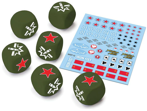 World of Tanks: Miniatures Game - Soviet Upgrade Dice and Decal Pack