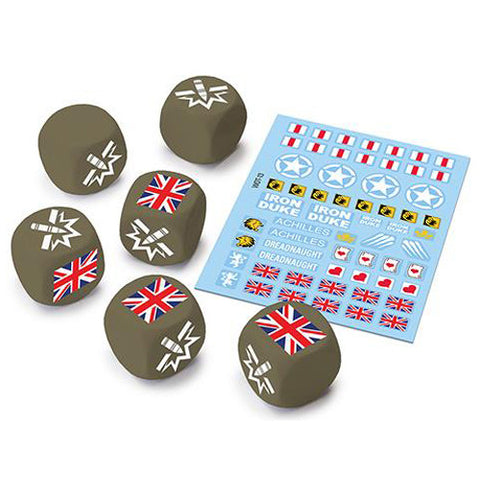 World of Tanks: Miniatures Game - British Upgrade Dice and Decal Pack