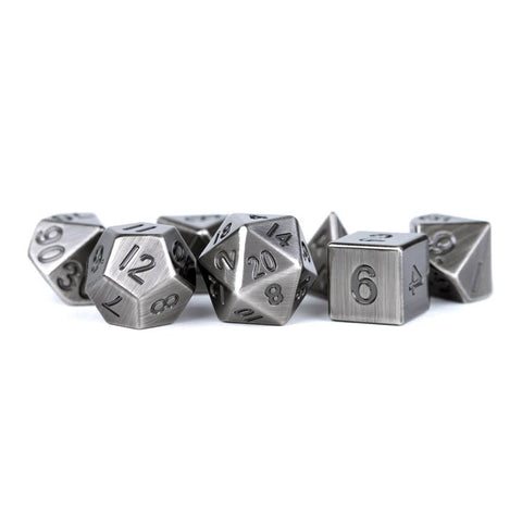 16mm Metal Poly Dice Set - Antique Silver
