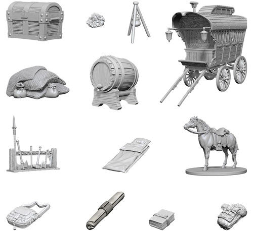 Nolzur's Marvelous Unpainted Miniatures - Adventurer's Campsite