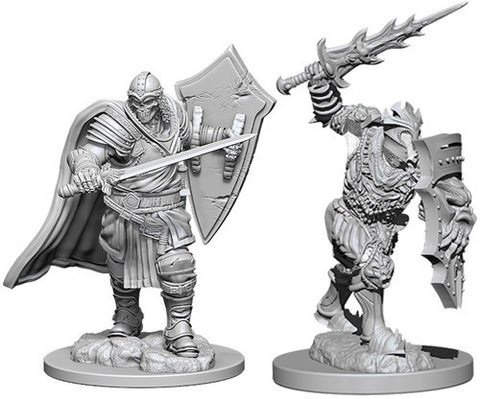 Nolzur's Marvelous Unpainted Miniatures - Death Knight & Helmed Horror