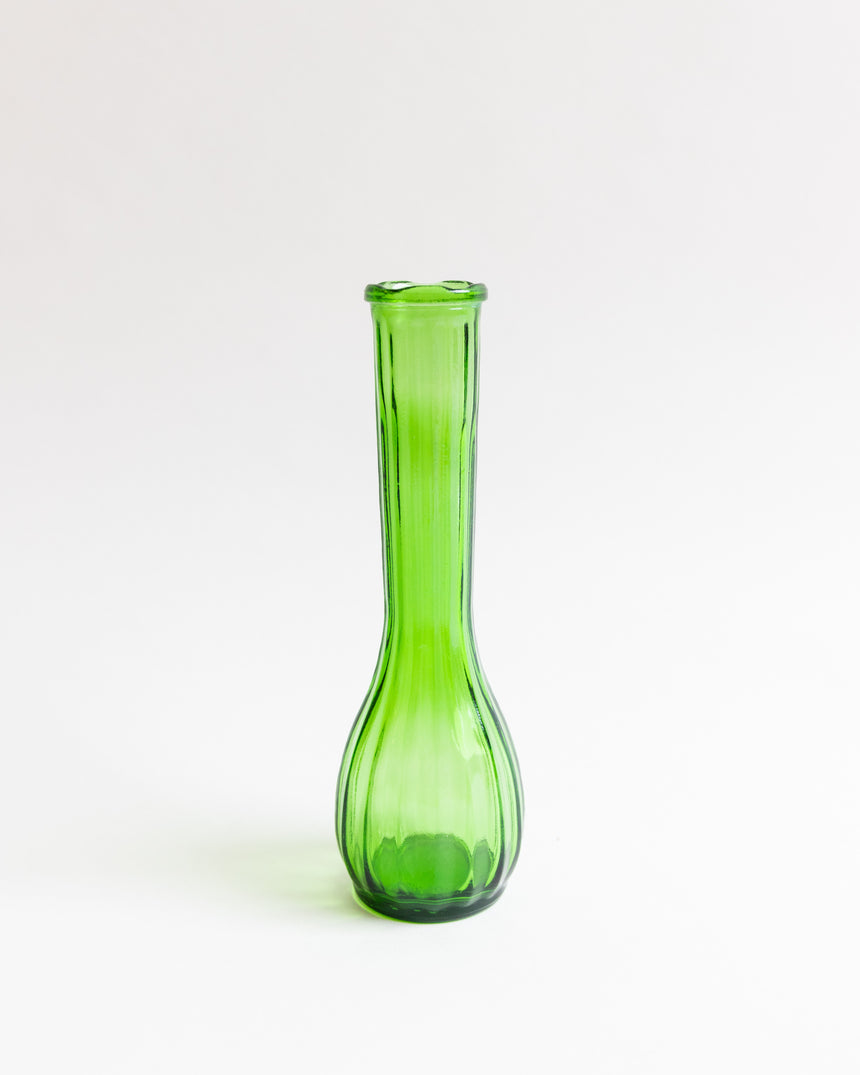 Vintage Green CFG Glass Vase