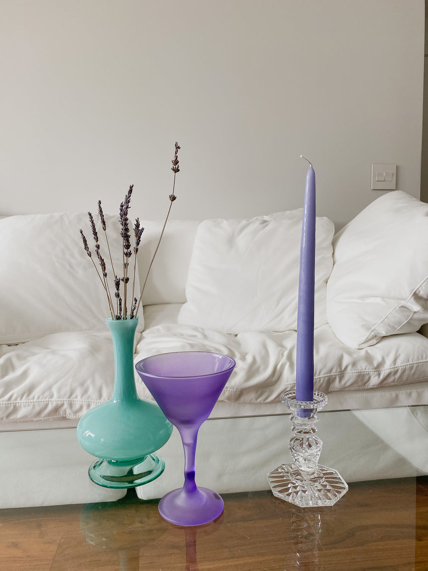 "12"" Lavender Tapered Candles"