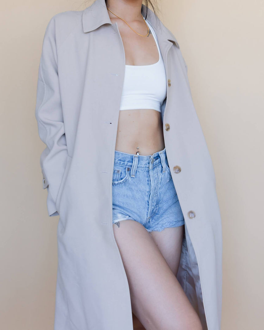 Oak and Fort Blush Trench [S] Jackets Capsule The Brand
