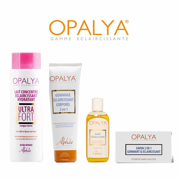 Pack OPALYA Lait Ultra Fort + Gommage + Huile + Savon