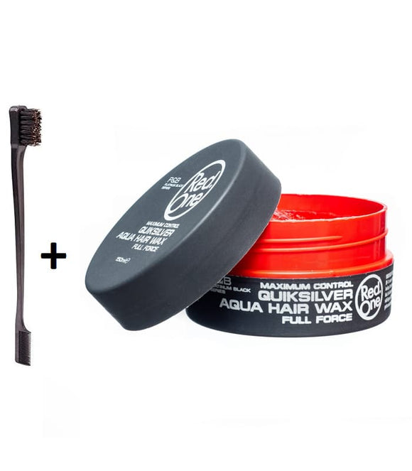 "PACK Red One Cire capillaire ""QUIKSILVER"" + Brosse Baby Hair"