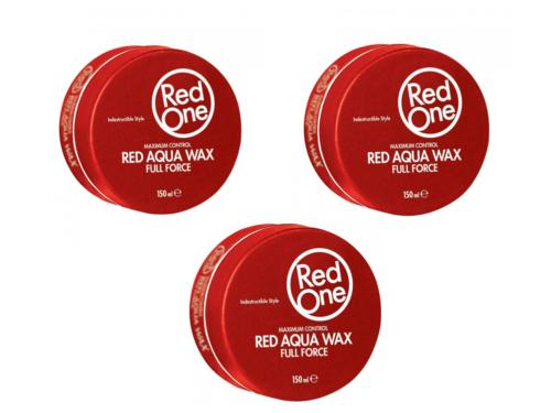 PACK 3 RED ONE - RED AQUA HAIR WAX - CIRE CAPILLAIRE FORTE TENUE