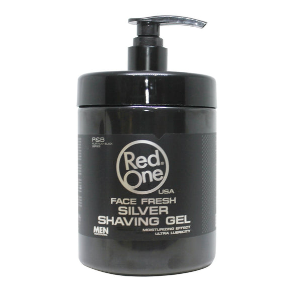 RED ONE Face Fresh SHAVING GEL SILVER 1000 ml