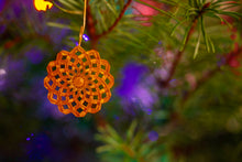 "Load image into Gallery viewer, ""Snowflake Scaffold"" Holiday Ornament"