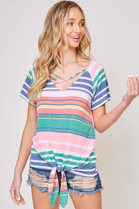 Oh My Stripes Multi Colored Top - Bella Grace Boutique