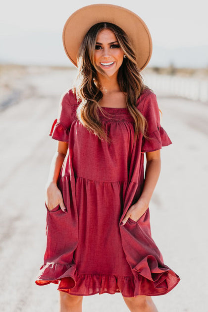 A Love Connection Red Dress - Bella Grace Boutique