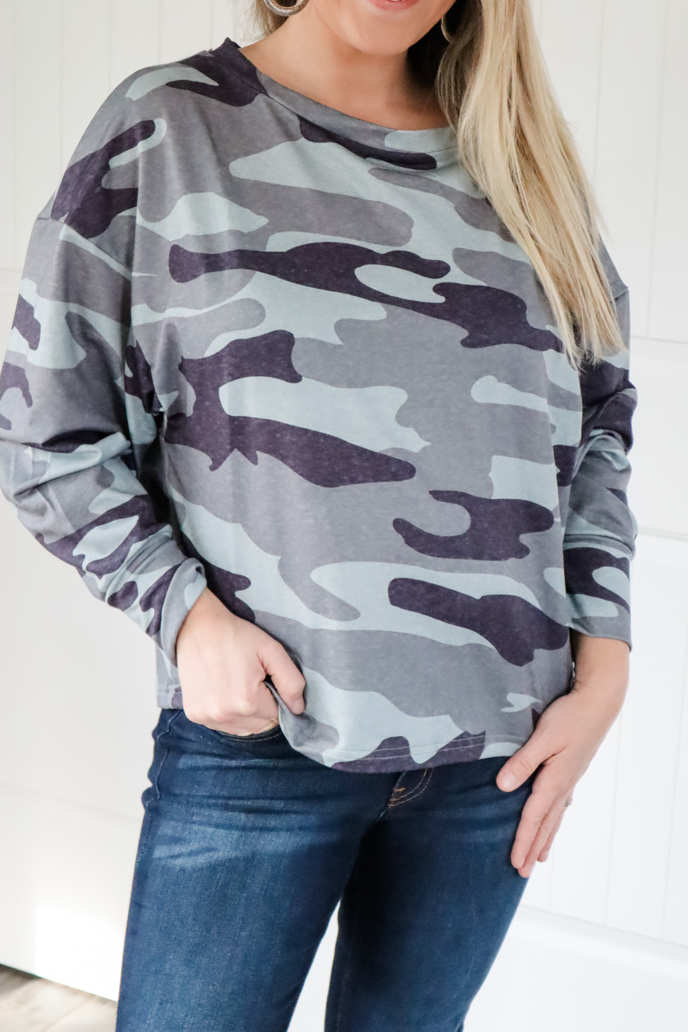 Camoflauge Delight Long Sleeve Top