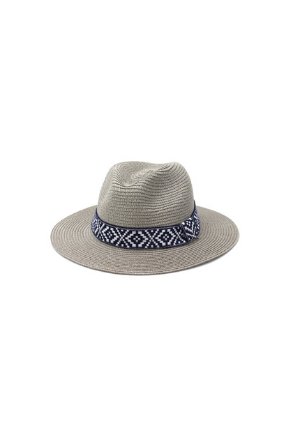 Beach Please Grey Panama Hat