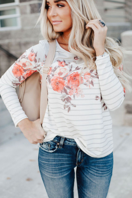 In a Garden of Love Long Sleeve Top
