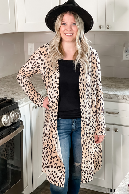 Spot On Animal Print Cardigan